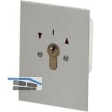Schlüsselschalter Unterputz, 90 x 70 x 52 mm, Aluminium