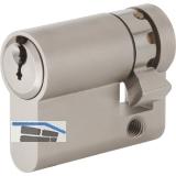 Einbauhalbzylinder pExtra, Lagerprogramm, 30 mm, Messing vernickelt matt