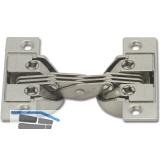 Gehrungsscharnier mit Gehrungsschnitt 45°, Zamak/Stahl vern.