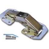 Aufschraub-Gelenkscharnier, Stahl verzinkt