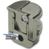 Glasbodenträger Alfa Stop zum Anschrauben, Glas 6/8/10 mm,vernickelt,VPE 100 ST