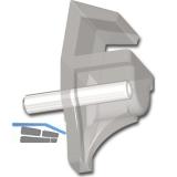 Glasbodenträger Andrea zum Stecken,Bohr ø 3 mm,Kunststoff transparent,VPE 1000ST
