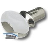 Glasbodenträger Dream zum Stecken, Bohr ø 3 mm, vernickelt, VPE 100 ST
