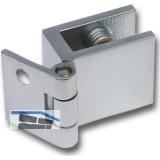 H25/R7 Glastürscharnier, Glas 6-8; 32x25 mm, Messing verchromt matt