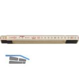 SOLA Holz-Gliedermaßstab 10 Glieder mit Feder 2 m EG-Prüfzeichen Genauigkeit III