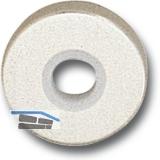 GRUNDMANN Drückerrosette WG 50 mm, mit Anschraubträger \T\, silber eloxiert