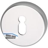 GRUNDMANN Schlüsselrosette BBWG m.Anschraubträger \T\, ø 50, H: 8, silber elox