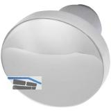 GRUNDMANN Knopfdrückerlochteil Flachform, ø 45 mm, Aluminium poliert