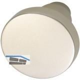 GRUNDMANN Knopfdrückerlochteil Flachform, ø 45 mm, Aluminium neusilber eloxiert