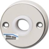 GRUNDMANN Drückerrosette WG mit Drückerführung 16 mm, Aluminium pol