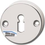GRUNDMANN Schlüsselrosette BBWG AB6 aufschraubbar, o. Hangerl, ø 51 mm, Alu pol