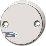 GRUNDMANN Blindrosette WG AB6 aufschraubbar, Aluminium poliert