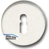 GRUNDMANN Schlüsselrosette BBWG mAnschraubträger \T\, ø 50, H:8mm,silber eloxD6