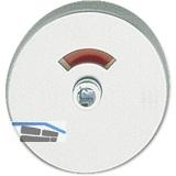 GRUNDMANN Drückerrosette WG 50 mm, mit Universalträger \U\, silber eloxiert