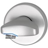 GRUNDMANN WC, -Rosette WG ø 50 mm, m. Anschraubtr. \A\, silber eloxiert D6