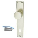 GRUNDMANN Knopflangschild WG 2000, BB90 mm, Aluminium neusilber eloxiert