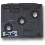 Befestigungsplatte zu Sockelverstellfuß STAHL, Kunststoff schwarz