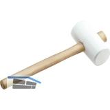KAUFMANN Gummihammer weiß Kopfdurchmesser 65 mm mit Eschenstiel