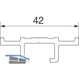 HAUTAU ATRIUM HS 300 Führungsschiene Nr. 1/1, L=6500 mm, Alu silber eloxiert
