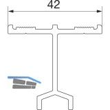 HAUTAU ATRIUM HS 300 Führungsschiene Nr. 3, L=6500 mm, Alu silber eloxiert