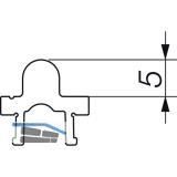 HAUTAU ATRIUM HS 300 Laufschiene Nr. 24 TT2, H=5 mm, L=6500 mm, silber eloxiert