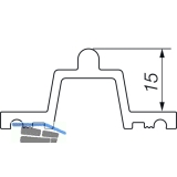 HAUTAU ATRIUM HS 300 Laufschiene Nr. 26 Holz, H=15mm, L=6500 mm, silber eloxiert