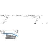 HAUTAU ATRIUM SP komfort Gleitscheren-Set, FFB  750-900 mm, links