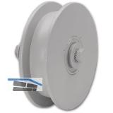 Schiebetor-Stahlrolle ø 100 mm, Stahl grau grundiert