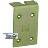 Verstärkungslasche f. Holztor HELM 198, TS 20-40 mm, Stahl gelb passiviert