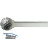 LUKAS HM-Frässtift Form D Kugel Kopf ø  4 mm Länge 3 mm Zahnung 7 Schaft 3 mm