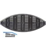 LAMELLO Haftlamellen- K 20, 60 x 24 mm, Stärke 4.5, Kunststoff schwarz