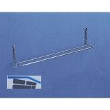 VAUTH-SAGEL Handtuchleiste Breite 330 mm, Höhe 75 mm, Stahldraht silber RAL 9006