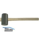 Gummihammer fassförmig Gr.0 Kopfdurchmesser 40 x 80 mm mit Eschenstiel