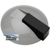 HEWI Bodentürpuffer 625 - ø 85 mm, Anschlagh. 22,5 mm, Nylon felsgrau