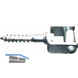 Rollkloben 40 mm, Stahl verzinkt