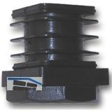 Höhenverstellschrauben mit Fußkappe 25x25 mm, Kunststoff schwarz
