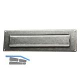 HALCÖ Briefeinwurf 285 x 85 mm, Eisen verzinkt schwarz passiviert