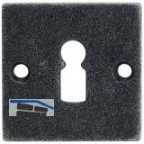 HÖRTNAGL Schlüsselrosette eckig BB- HALL u. Söll, 52x 52, verz. schwarz passiv.