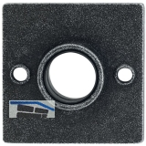 HÖRTNAGL Drückerosette eckig - SHall u. Söll, 52x52 mm, verz. schwarz passiviert