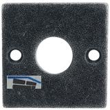 HÖRTNAGL Rosette eckig WC,- HALL u. Söll, 52x52 mm, verzinkt schwarz passiviert