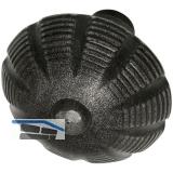 HÖRTNAGL Knopfdrückerlochteil, VK 8, Ansatz 18 mm, Stahl verz schwarz lack
