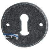 HÖRTNAGL Schlüsselrosette rund BB- FULP u. Imst, 53, verz.schwarz passiv.