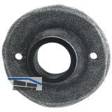 HÖRTNAGL Drückerrrosette rund - FULP u. Imst, 53 mm, verzinkt schwarz passiviert