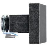 HÖRTNAGL Knopfdrückerlochteil eckig fix für Hall,Söll,60x60,verz schwarz passiv