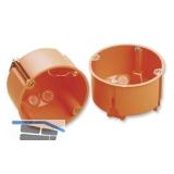 Hohlwanddose, Tiefe 46 mm, ø 68 mm, orange