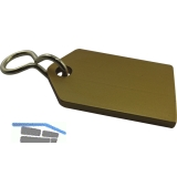 Hotelschlüsselanhänger - flach, 50 mm, ohne Gummi, Aluminium gold eloxiert