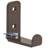 Mantelhaken Amenti Breite 25 mm, Höhe 54 mm, Stahl braun