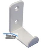 Mantelhaken Amenti Breite 25 mm, Höhe 54 mm, Stahl weiß