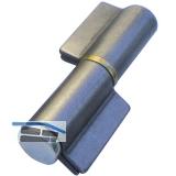 Anschweißband 2-tlg. I-Lappen; Stahl blank; Stift 16 mm mit Messingring