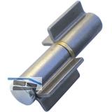 Aschweißband 2-tlg. V-Lappen, Stahl blank; Stift 16 mm mit Messingring